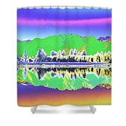 Psychedelic Mirror Lake New Zealand 3 Shower Curtain