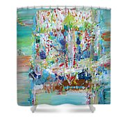 Psychedelic Object Shower Curtain