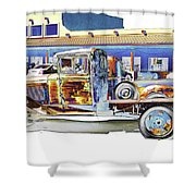 Psychedelic Old Pickup Truck Shower Curtain