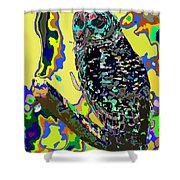 Psychedelic Owl Shower Curtain