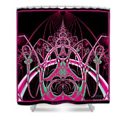 Psychedelic Rollercoaster Tunnel Fractal 65 Shower Curtain