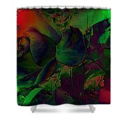 Psychedelic Rose Shower Curtain