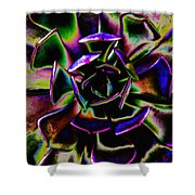 Psychedelic Rubber Plant Shower Curtain