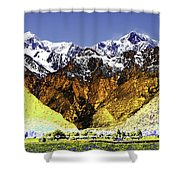 Psychedelic Southern Alps New Zealand Shower Curtain