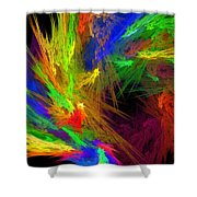 Psychedelic Spiral Vortex Fractal Flame Shower Curtain