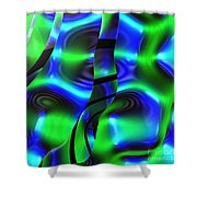 Psychedelic Streamers By Jammer Shower Curtain
