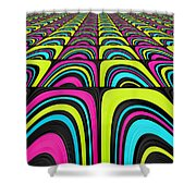 Psychel - 003 Shower Curtain by Variance Collections