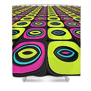 Psychel - 005 Shower Curtain by Variance Collections