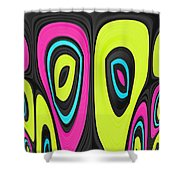 Psychel - 006 Shower Curtain by Variance Collections