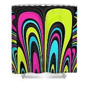 Psychel - 007 Shower Curtain by Variance Collections