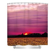 Psychoactive Sunset Shower Curtain