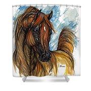 Psychodelic Chestnut Horse Original Painting 2 Shower Curtain