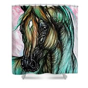 Psychodelic Pink And Green Shower Curtain