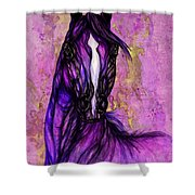 Psychodelic Purple Horse Shower Curtain