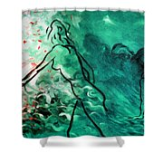 Psychological State Of Emerald Shower Curtain