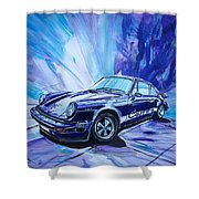 Psycodelic Porsche 911 Carrera. Shower Curtain