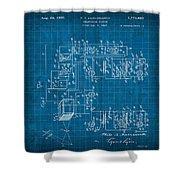 Pt Farnsworth Television Patent Blueprint 1930 Shower Curtain