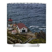 Pt Reyes Lighthouse Shower Curtain