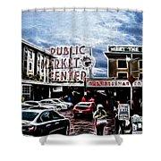 Public Market Shower Curtain