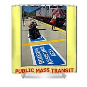 Public Mass Transit Shower Curtain