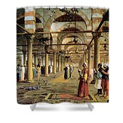 Public Prayer In The Mosque  Shower Curtain by Jean Leon Gerome