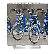 Public Shared Bicycles In Melbourne Australia Shower Curtain
