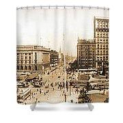 Public Square Cleveland Ohio 1912 Shower Curtain