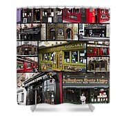 Pubs Of Dublin Shower Curtain by David Smith
