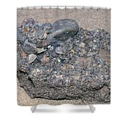 Puddingstone Conglomerate Shower Curtain