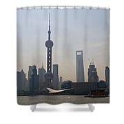 Pudong Skyline, China Shower Curtain