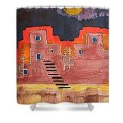 Pueblito Original Painting Shower Curtain
