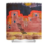 Pueblito Original Painting Shower Curtain
