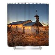 Pueblo Church Shower Curtain