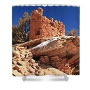 Pueblo Cliff Shower Curtain
