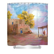 Pueblo De Las Lunas Shower Curtain