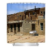 Pueblo Yard Sale Shower Curtain