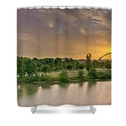 Puente De Lusitania Shower Curtain