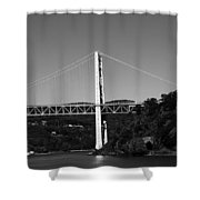 Puente II Bw Shower Curtain