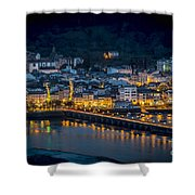 Puentedeume View From Cabanas Galicia Spain Shower Curtain