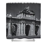 Puerta De Alcala Shower Curtain by Susan Candelario