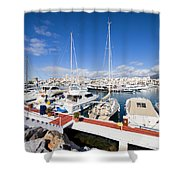 Puerto Banus Marina In Spain Shower Curtain