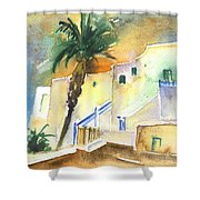 Puerto Carmen Sunset In Lanzarote 03 Shower Curtain