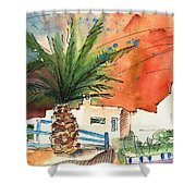 Puerto Carmen Sunset In Lanzarote Shower Curtain