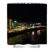 Puerto De La Cruz By Night Shower Curtain