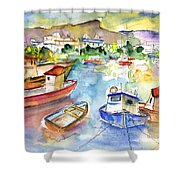 Puerto Mogan 01 Shower Curtain