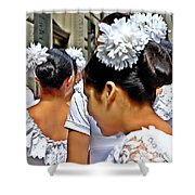 Puerto Rican Day Parade Lineup Shower Curtain