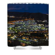 Puerto Rico By Night  Shower Curtain
