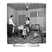 Puerto Rico Family Dinner Shower Curtain