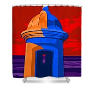 Puerto Rico Turret Shower Curtain