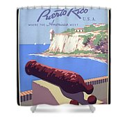 Puerto Rico Usa Shower Curtain